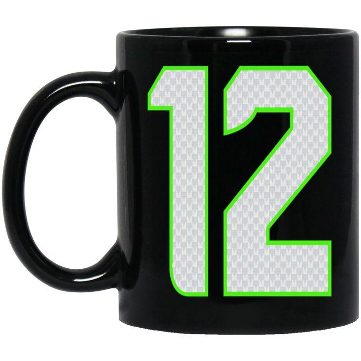 12TH MAN BM11OZ 11 oz. Black Mug