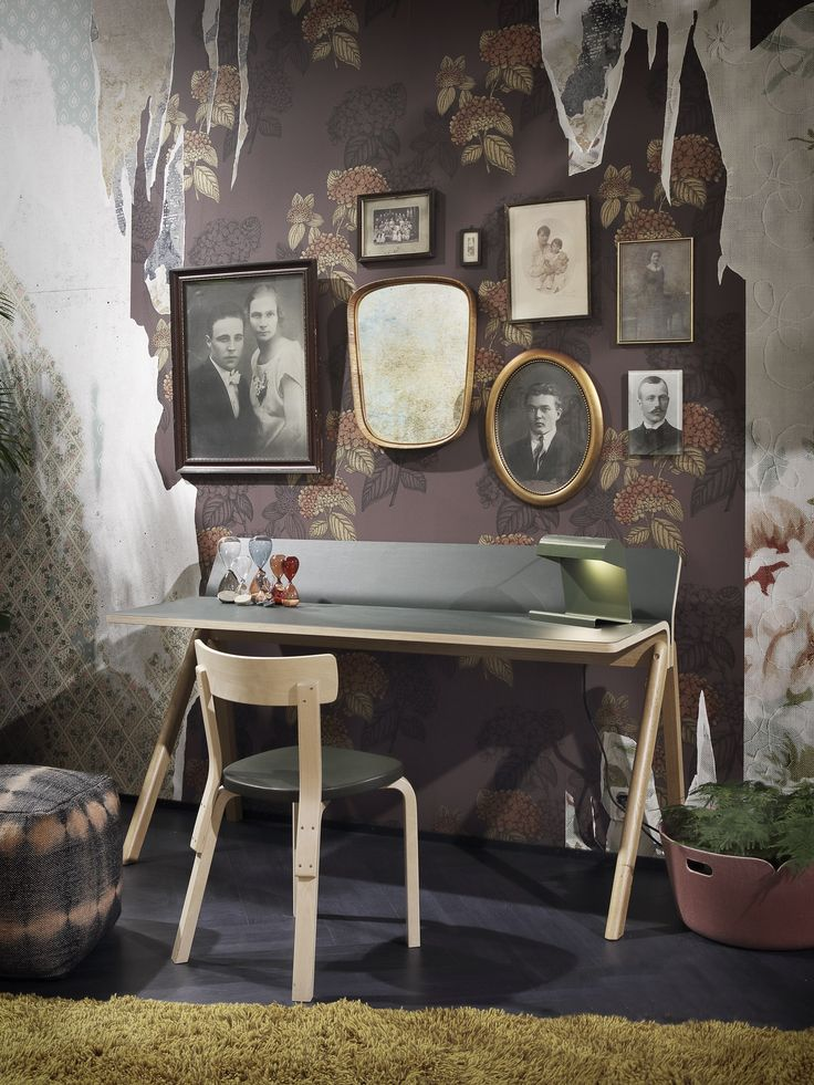 INTERIOR TRENDS | New colours and moods from Habitare fair in Helsinki @habitare home decor trends winter 2016  Floral wallpaper