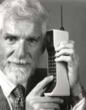 In 1983 the Motorola DynaTAC 8000X received approval from the U.S. Federal Communications Commission and become the world's first commercial handheld cellular phone.    Dr Martin Cooper (above), a former general manager for the systems division at Motorola, is considered the inventor of the first portable handset and the first person to make a call on a portable cell phone in April 1973.