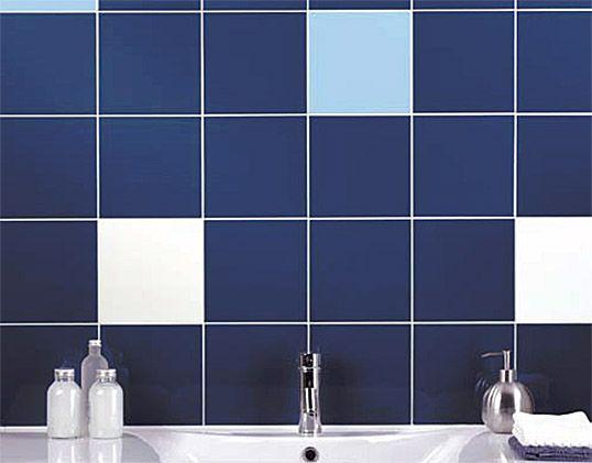 Синяя плитка 20х20 см для ванной