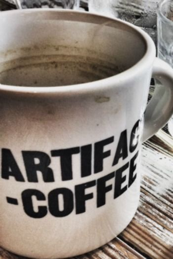 Artifact Coffee...such a FUN and trendy coffee shop (okay, you can get libations too) in Baltimore! Shout-out to the quirky Hampden!