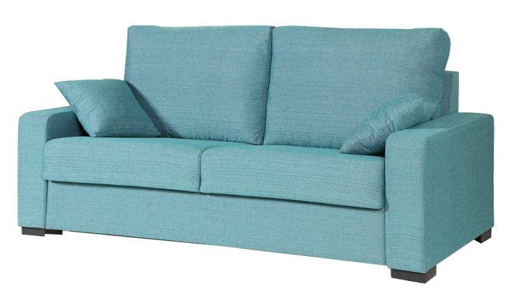 Un #sofacama colorido para el #verano. #sofa #turquesa