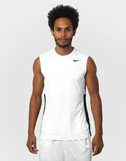 Camiseta Regata Nike Crossover Sleeveless - Branco+Preto