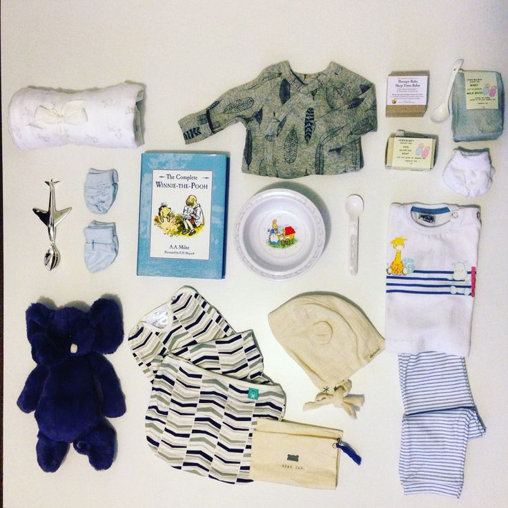 Baby flat lay, baby boy, Winnie the Pooh, bonds onesie, blanket, aeroplane spoon, Peter rabbit set, clothes, jellycat elephant