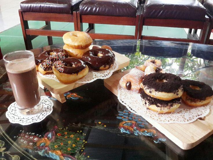 Homemade Doughnut  and Hot Chocolate ☕☕☕ for raining day  #Sfio