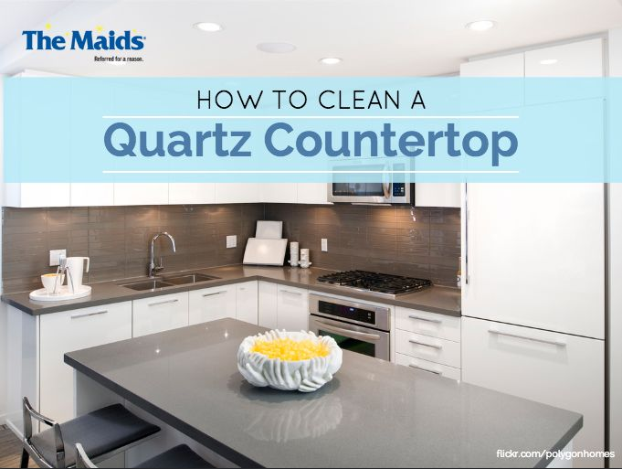 Quartz Counter Tops Provide An Antimicrobial Barrier, But It Can Be Damaged  By Harmful Cleaning Chemicals. Learn How To Clean Quartz From The Maids!