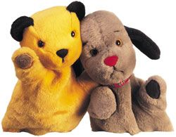 Sooty and Sweep Okay..... So they are puppets but they so cute. I loved the Sooty Show.