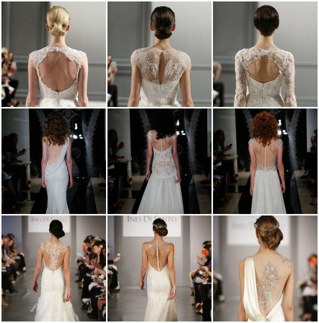 2014 wedding trends   Images- Monique Lhuillier (first row), Reem Acra (second row), Ines Di ...  More portrait backs!