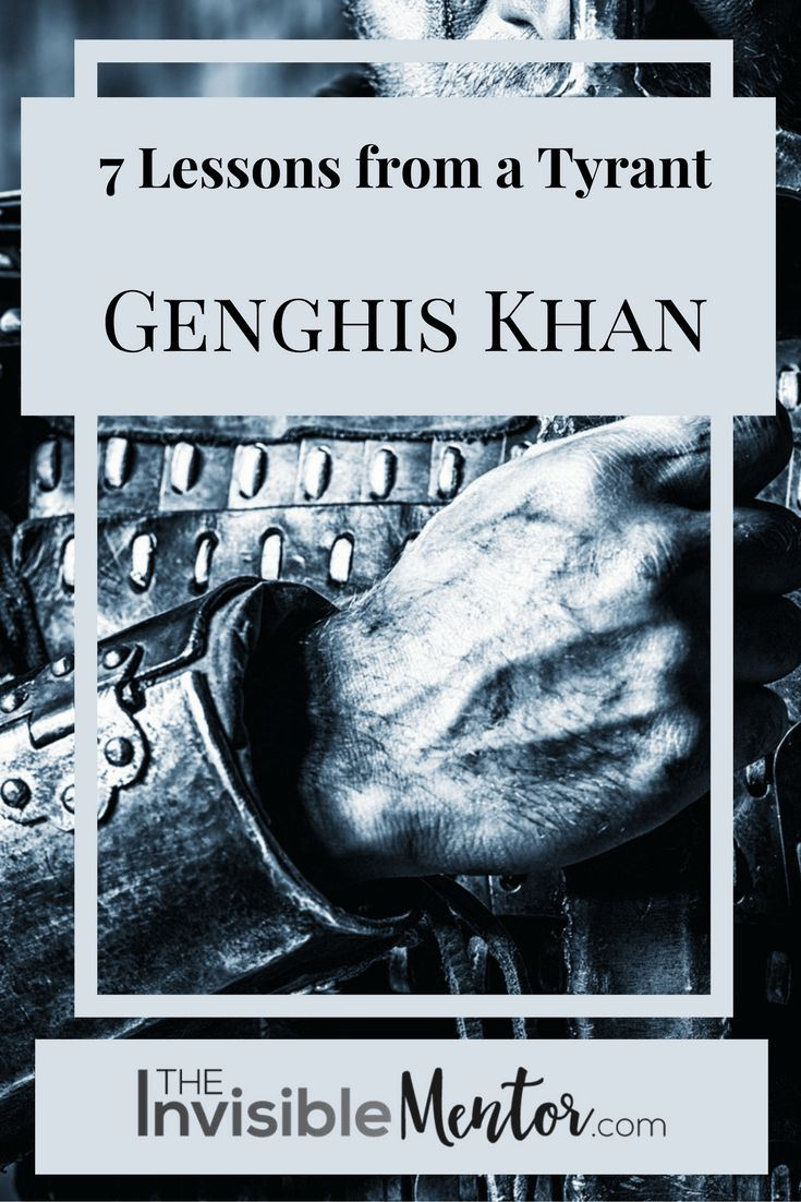 There are some Genghis Khan facts in my article Genghis Khan Facts: Seven Lessons from a Tyrant. Why look at the life of a tyrant? No one is all good or bad, and we can learn from everyone – even if it's learning what not to do. And there are modern day tyrants as well. Visit my website to read the article, and learn about the tyrant Genghis Khan.