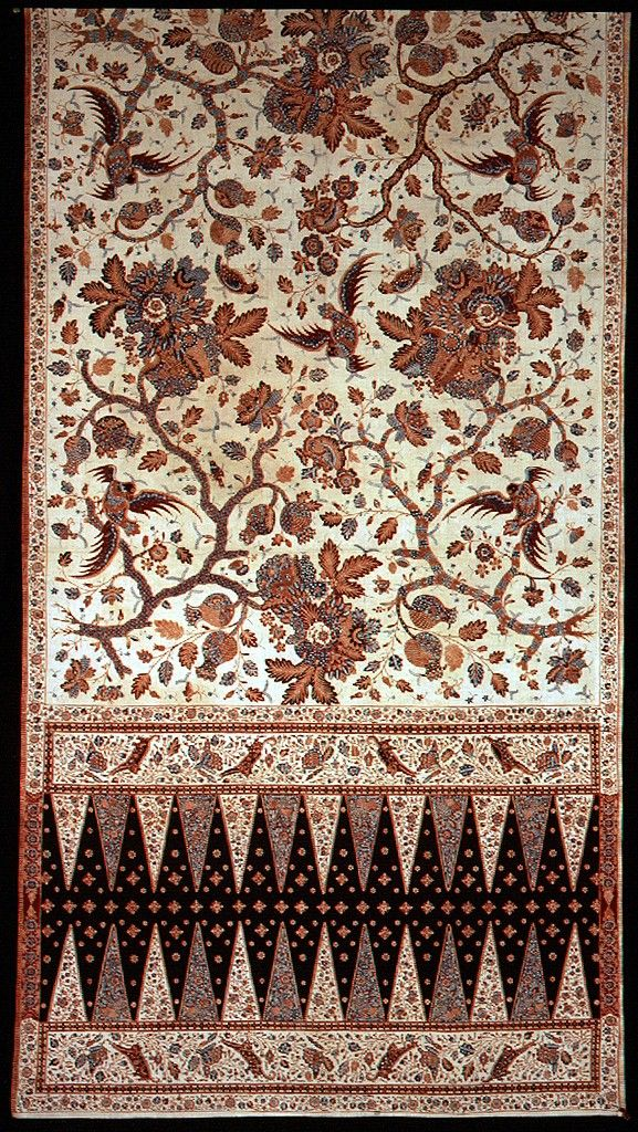 Indonesia, Java, batik sarong, 19th c