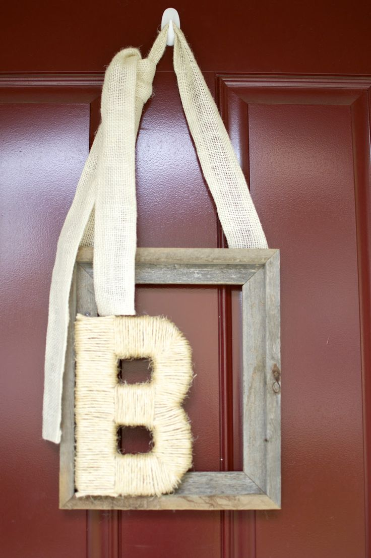 DIY Front Door Rustic Decor