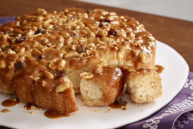 If you like our Peanut Butter Monkey Bread, you've got to try our Peanut Butter-Banana Monkey Bread!  Bananas take this fresh-baked monkey bread recipe one step further.