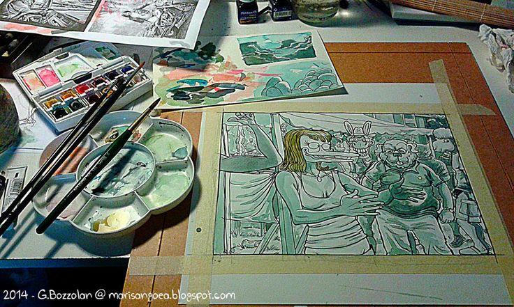 acquerelli - work in progress - 2014 (from Guča with Rakija) http://marisangoea.blogspot.it/