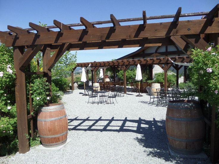 Outdoor patio area of Ancient Hills Winery #Okanagan #travel #winetasting
