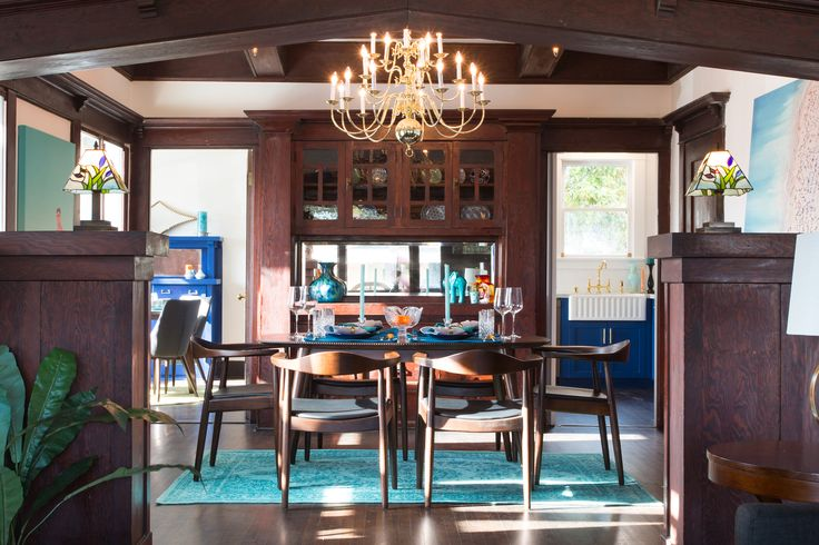 Reinvigorated 1912 Craftsman with cobalt blue kitchen asks $664K - Curbed LAclockmenumore-arrow : Did this house hurt itself when it fell from heaven?