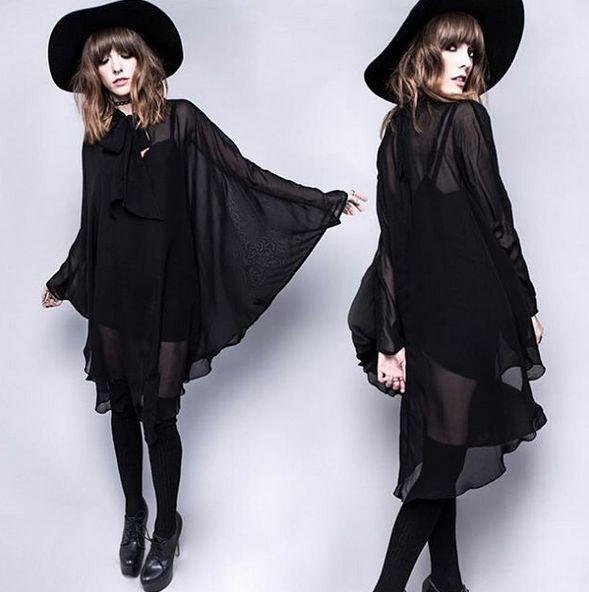 Death Wish Chiffon Dress by Widow ATTITUDECLOTHING.CO.UK | We ship worldwide