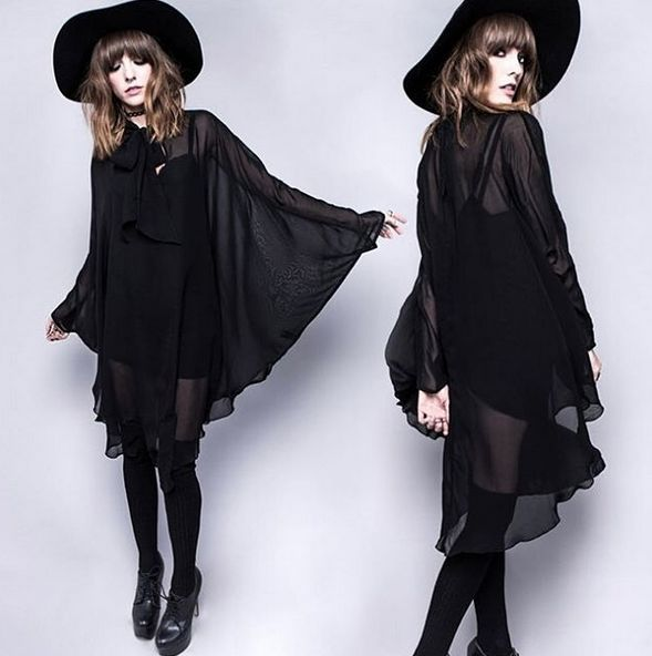 Death Wish Chiffon Dress by Widow ATTITUDECLOTHING.CO.UK | We ship worldwide