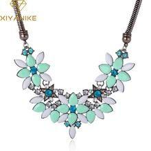 Colorful Gem Rhinestone Flower Choker Necklace                      – Lavenderella