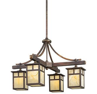 Kichler Craftsman/Mission Chandelier = $820 @ http://www.lightingdirect.com/kichler-49091-craftsman-mission-four-light-chandelier-from-the-alameda-collection/p1222278?source=trm_LeadTime