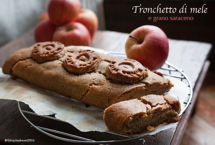 Tronchetto di mele e grano saraceno, un dolce goloso a base di mele senza burro, uova, latte e glutine. Perfetto per intolleranti o per chi segue diete vegan