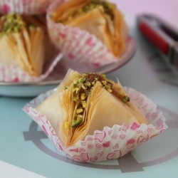 Chamiat - Another shape of baklava with almond and pistachio easy and delicious