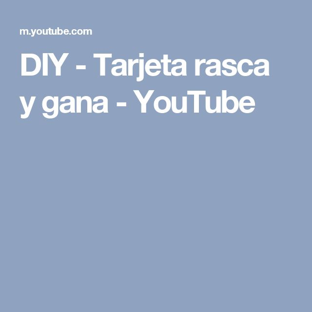 DIY - Tarjeta rasca y gana - YouTube