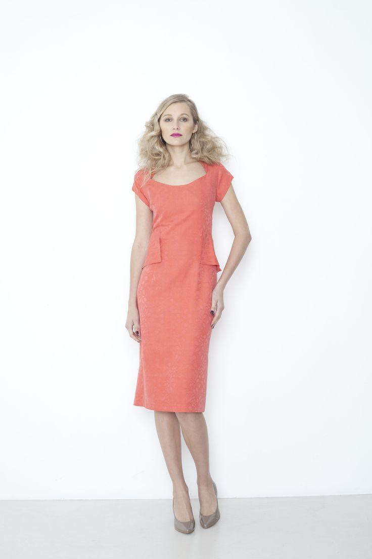 Wilshire Dress - tangerine