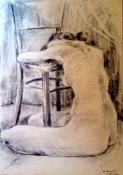 Barbara Wójcik - 2011.charcoal drawing 100x70