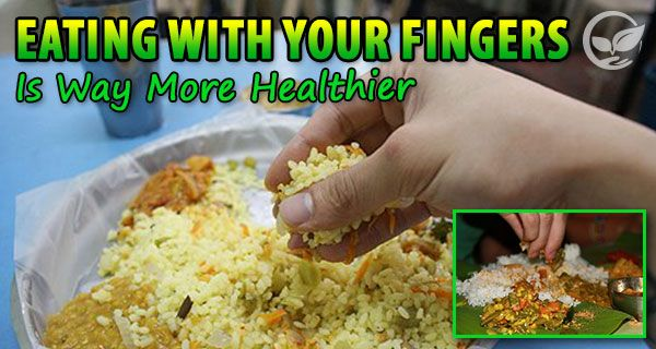 Nice and well – mannered eating with a special cutlery is not always the healthiest and most recommended alternative.  The rude eating with hands and lickin