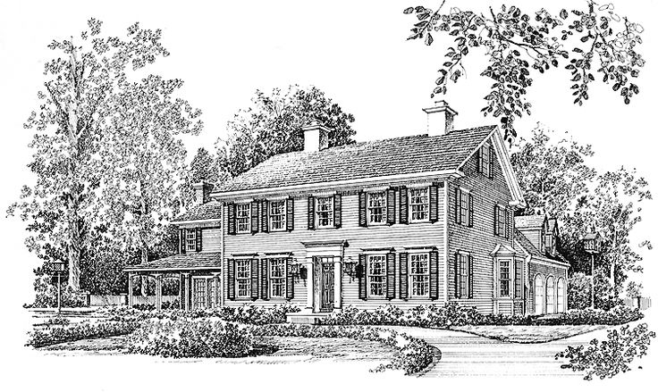 Eplans georgian house plan elegant and stately 3553 for Stately house plans