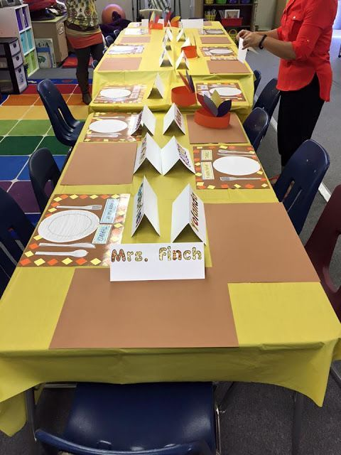 Thanksgiving feast in a special education classroom. How to set up a structured feast in your classroom.
