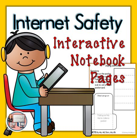 Internet Safety Interactive Notebook Pages for First Grade. The perfect way to supplement your internet safety and digital citizenship unit $