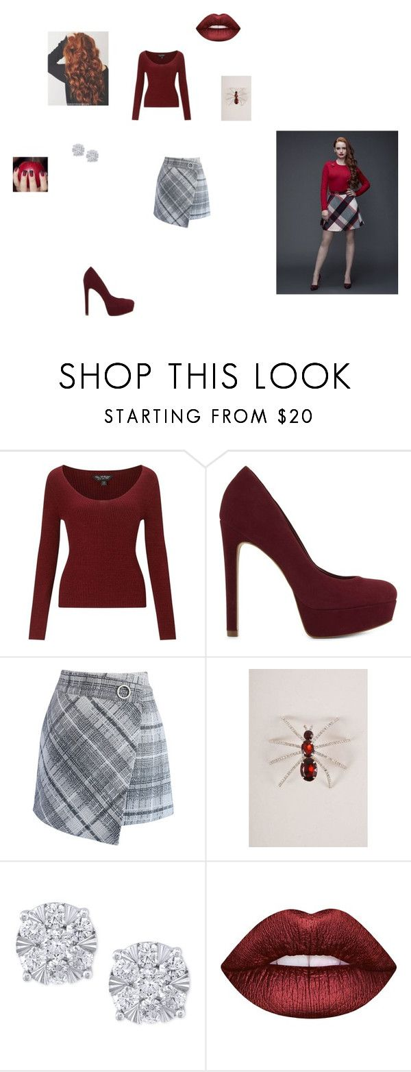 """riverdale - cheryl Blossom"" by fangirl-24 on Polyvore featuring Miss Selfridge, ALDO, Chicwish, The Unbranded Brand, Effy Jewelry, Lime Crime, fangirl, riverdale and cherylblossom"