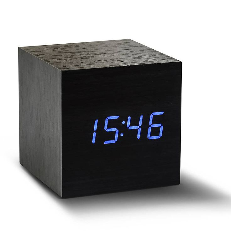 Cube Black Click Clock