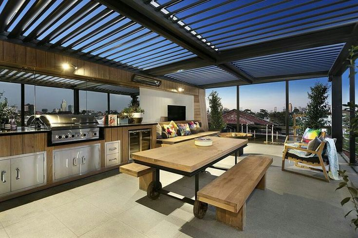 Rooftop terrace seen on the block Australia 2014