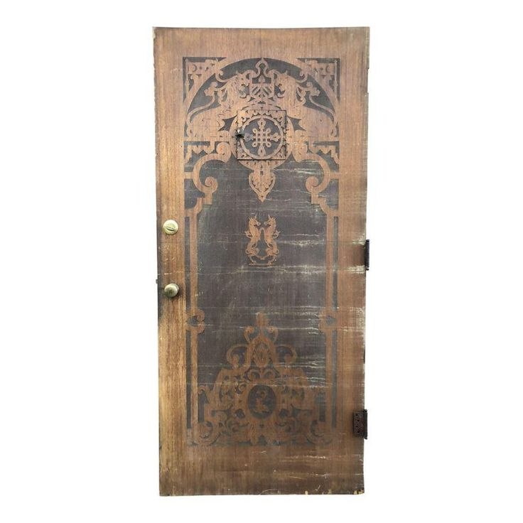 Spanish Carved Wood Front Door With Mythical Creatures With Images Wood Front Doors Wood Carving Mythical Creatures