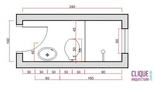 Banheiro Ergonomia & Circulação  Clique Arquitetura  DESIGN PROJETOS 3 -> Tamanho Ideal Da Cuba Para Banheiro