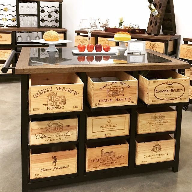 Hobbs Design- pieces built from wine crates that function like drawers. Buy wine crates for a similar project at www.winecratesandboxes.com