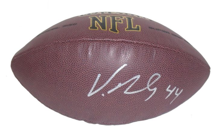 Vic Beasley Autographed NFL Wilson Composite Football, Proof Photo. Vic Beasley Signed NFLFootball, Atlanta Falcons, Clemson Tigers, Proof  This is a brand-new Vic Beasley autographed NFL Wilson composite football. Vic signed the footballin silver paint pen.Check out the photo of Vic signing for us. ** Proof photo is included for free with purchase. Please click on images to enlarge. Please browse our websitefor additional NFL & NCAA footballautographed collectibles. 1 Notable…