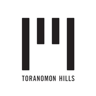 虎ノ門ヒルズのロゴマーク。 2014年6月に開業予定の新しいランドマークです。 4本の直線は、パッと