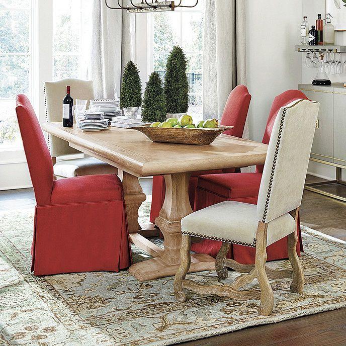 Chianni Trestle Table Ballard Designs In 2021 Extension Dining