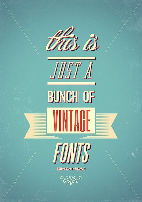 vintage type: Vintage Types, Vintage Typography, Fonts Free, Vintage Fonts, Color Schemes, Fonts Style, Graphics Design, Flats Design, Vintage Book Covers
