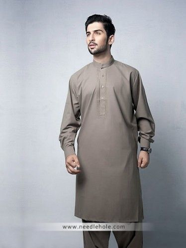 Cinereous #embroidered #kurta #shalwar suit for men in #cotton silk fabric http://www.needlehole.com/cinereous-embroidered-kurta-shalwar-suit.html #Aijaz aslam #kurta #shalwar suits and #salwar #kameez uk. Latest pakistani #shalwar #kameez designs, #salwar suit and kurta shalwaar for men by aijaz aslam mens stores uk