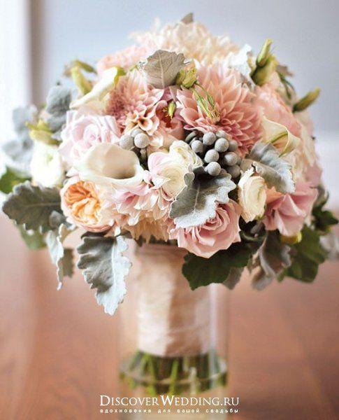 Букет невесты с георгинами