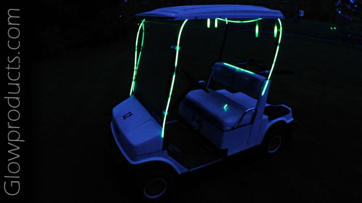 Use Glow Necklaces to highlight your golf cart for night golf!  http://glowproducts.com/nightgolf #NightGolf
