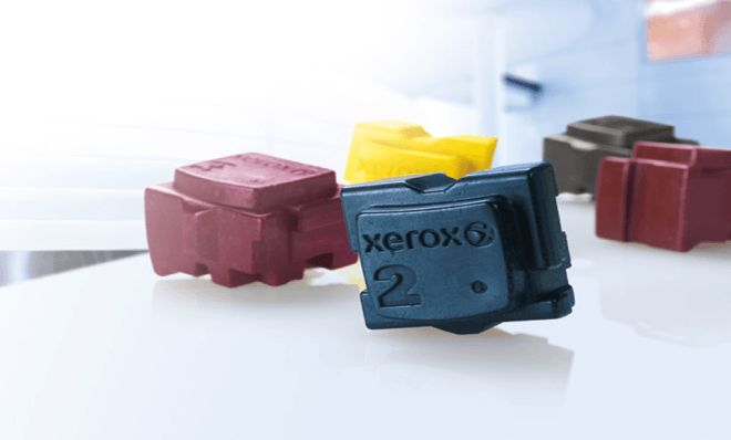 Only Xerox® can fulfill the promise of affordable color to every document, every day. This is possible with Xerox®'s patented Solid Ink technology.