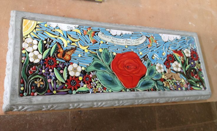 8 Best Images About Memorial Benches And Tile Murals By