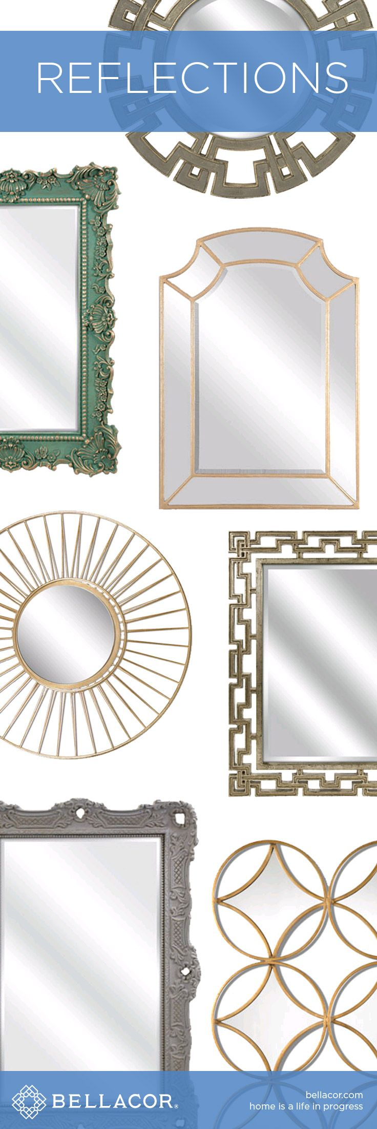 Shop Mirrors in All Shapes and Sizes at http://www.bellacor.com/