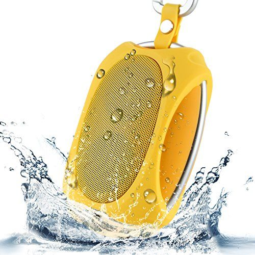 Amazon.com : [Ultra Waterproof and 2XSpeakers] Zenbre NFC Wireless Outdoor Speakers, Portable Bluetooth 4.0 Speaker with Powerful Surround Sound and Bass, Travel/Sport/Hiking/Camping Speakers with 1000mAh Rechargeable Battery, Handsfree Mic, Bicycle/Bike/Shower Speakers for iPhone 6/iPad/iPod, Blackberry, Nexus, Samsung and other Smart Phones, Support TV, PC, Laptop, Tablets, and Mp3 Music Players(Yellow) : Electronics
