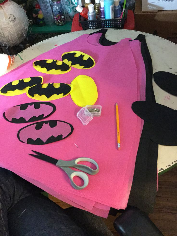 Making batman capes for girls and boys.
